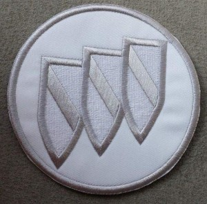 buick tri shield solid color patch