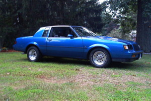 dark blue buick regal