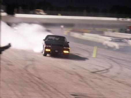 tearin down the track