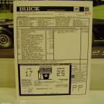 86 Buick GN window sticker