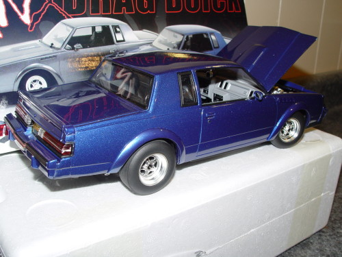 gmp blue gnx drag buick diecast car