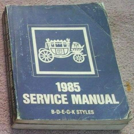 1985 GM Fisher Body Service Manual