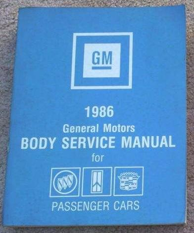 1986 GM Fisher Body Service Manual