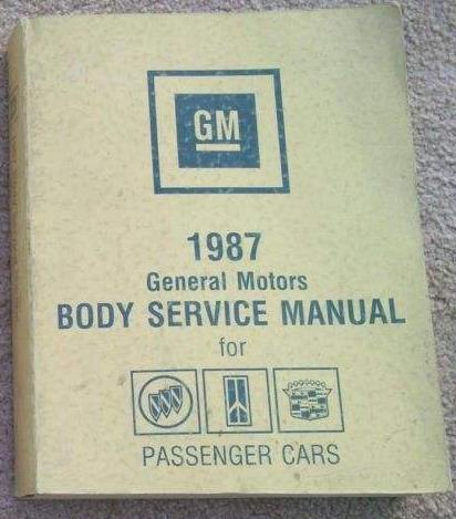 1987 GM Fisher Body Service Manual