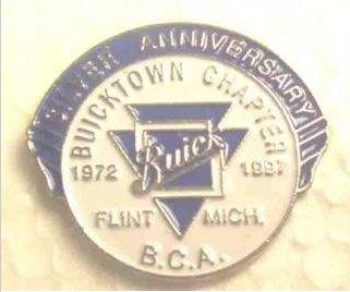 BUICK CLUB OF AMERICA 25TH ANNIVERSARY PIN BADGE DATED 1972-1997
