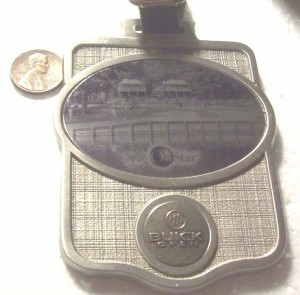BUICK OPEN PEWTER LUGGAGE TAG