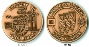 buick factory 29 coin