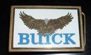 1983 buick hawk belt buckle solid brass