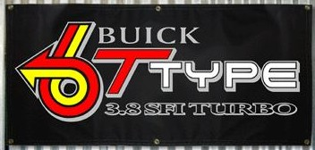 buick T type banner