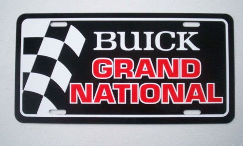 buick grand national front license plate