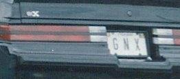 gnx license plate