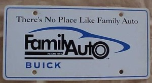 Family Auto Buick license plate
