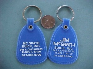Jim McGrath Buick car dealership keychain