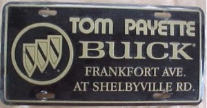 Payette Buick Dealership license plate