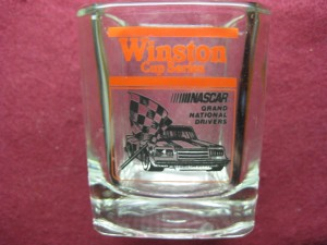 WINSTON CUP SERIES NASCAR GRAND NATIONAL DRIVERS WHISKEY GLASS