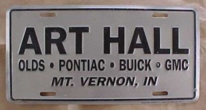 art hall dealership plate