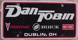 dan tobin dealership plate