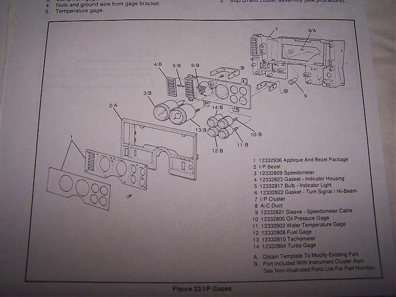 Buick GNX Dash Style Type Gauge Cluster Setups on instrument chassis, instrument cable diagram, power diagram, grounding diagram, lighting diagram, instrument valves, instrument index, instrument repair, speaker diagram, instrument transformer,