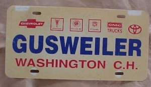 gusweiler buick dealership plate