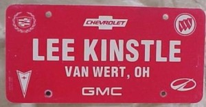 lee kinstle dealership plate