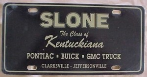 slone buick plate