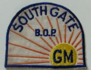 GM South Gate CA Assembly Plant Patch Buick Olds Pontiac