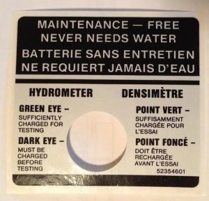battery maintenance sticker french canada buick
