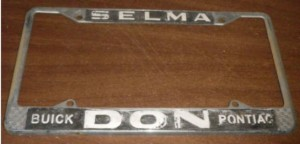 don buick license plate frame