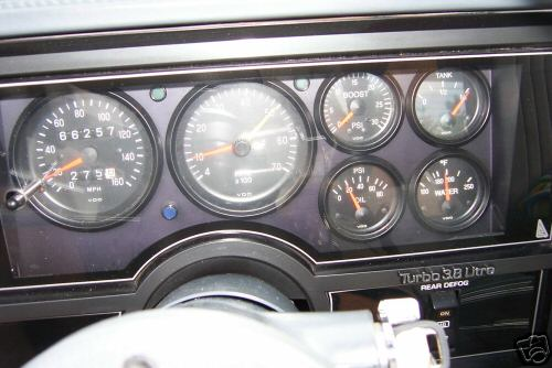 gnx style dash with vdo gauges