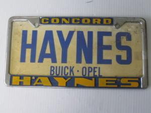 haynes buick license plate frame