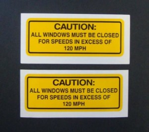 windows closed warning sticker