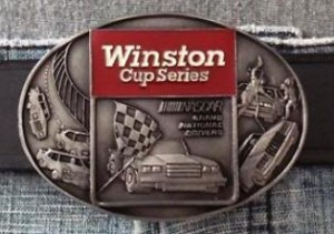 Winston Cup Series Nascar Grand National Drivers Vintage 1983 Belt Buckle