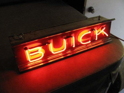 buick dealership neon sign 24 x 6