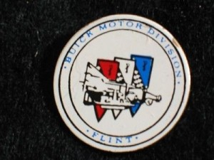 buick motor division flint button