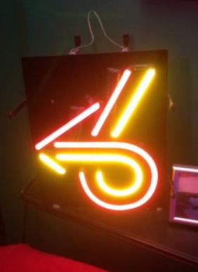turbo 6 logo neon sign