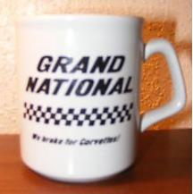 grand national we brake for vettes coffee cup