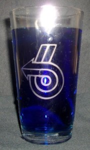 turbo 6 pint glass