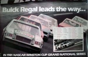 1981 buick regal nascar poster