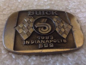 1983 Indianapolis 500 Buick Pace Car Belt Buckle
