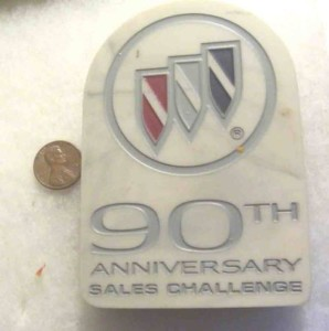 BUICK PAPERWEIGHT 90TH ANNIVERSARY