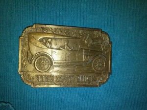 The New Buick General Motors Brass Buckle Lewis Buckles Chicago