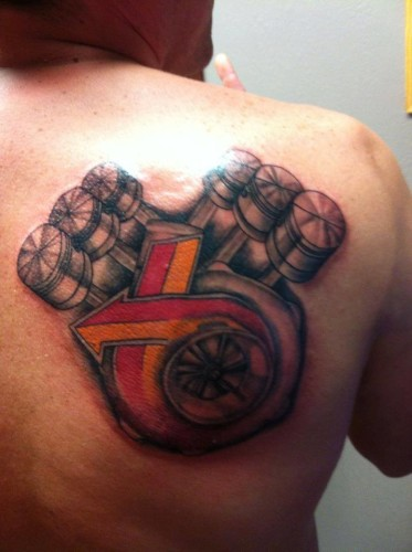 buick turbo v6 engine tattoo