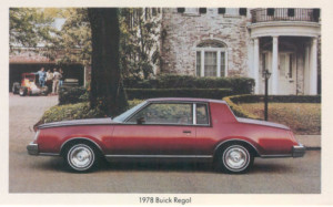 1978 buick regal postcard