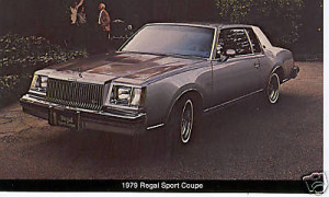 1979 buick regal sport coupe postcard