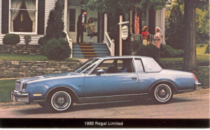 1980 buick regal limited postcard