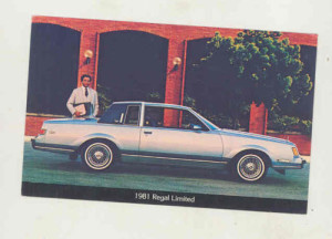 1981 buick regal limited postcard