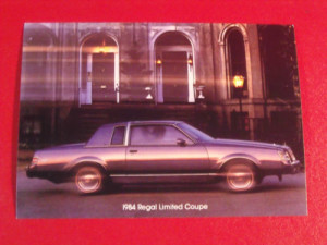 1984 buick regal limited postcard