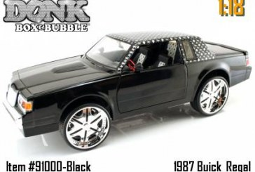 Donk Box & Bubble 1987 Buick Regal 1:18 Scale