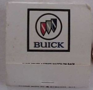 buick dealer matchbook