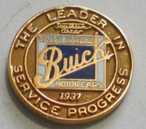 buick the leader in service progress pin